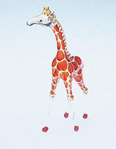 Giraffe Figure Dollhouse Miniatures Animals Orange Head up Collectible Figurine
