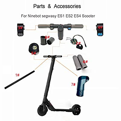 Hoveroid Accessories for The Handlebar Part of The Ninebot Segway ES1 ES2 ES4 Parts Folding Electric Scooter (New) (5# Headlight Assembly) : Sports & Outdoors