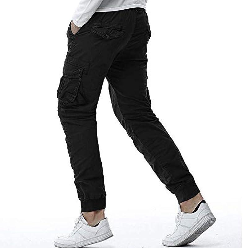 Sporthose Cargohose Lang Viele Sweatpants Basic Einfarbige Taschen Festlich Odzież Slim Fit Skinny Jogginghose Männer Gym Fitness Jogger Hosen Pants Freizeithosen Trainingshose: Odzież
