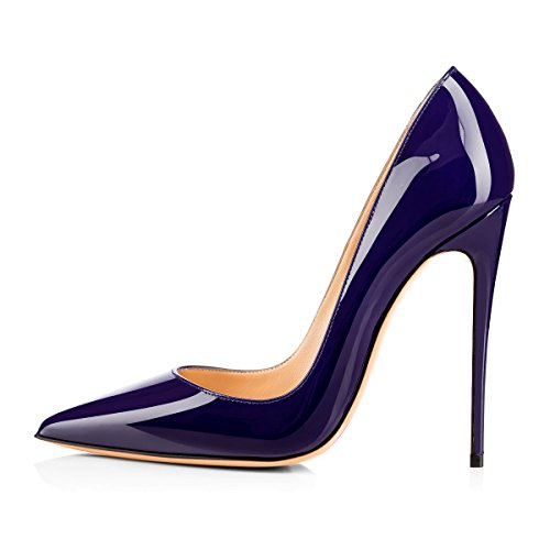 onlymaker Women's Pointed Toe Stilettos High Heel Slip On Dress Pumps Court Shoes Pumps High Heel Court Shoes Glazed Purple MpIHcrf