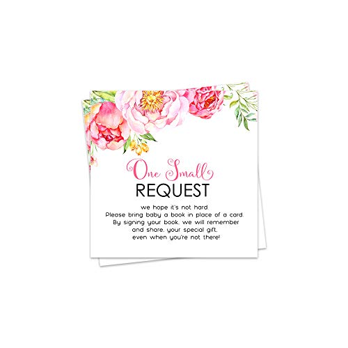 Floral Bring a Book for Baby Insert - Set of 25 ()