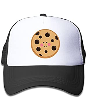 Cookie Clipart On Boys and Girls Trucker Hat, Youth Toddler Mesh Hats Baseball Cap