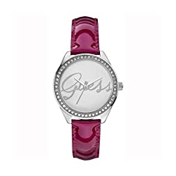 Guess Analog Silver Dial Women's Watch - W0229L3