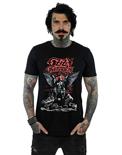 Absolute Cult Ozzy Osbourne Men's Angel Wings T-Shirt Black XX-Large from ABSOLUTECULT