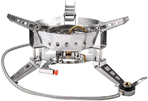 折り畳み式のスプリットガスストーブバーベキューアウトドアキャンプハイキングガスストーブを調理ポータブルピクニック防風ガスストーブ lzpff