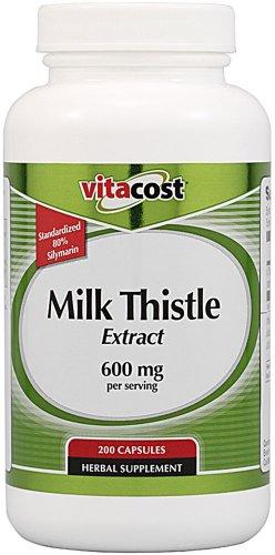 Vitacost Extrait de chardon-Marie - Normalisé - 600 mg par portion - 200 Capsules