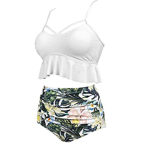 Women's Ethnic Print Silk Mesh Sexy Bikini One-Piece Swimwear Beach Suit White