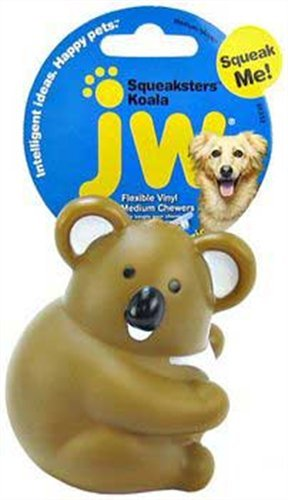 JW Pet Company Medium Squeaksters Koala Dog Toy, Colors Vary, My Pet Supplies