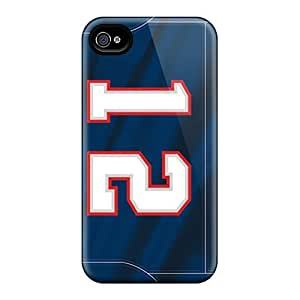 New Design Shatterproof XqG3832eZwK Cases For Iphone 4/4s (new England Patriots)