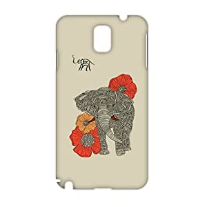 Beautiful flowers elephant 3D Phone For Case Samsung Galaxy Note 2 N7100 Cover