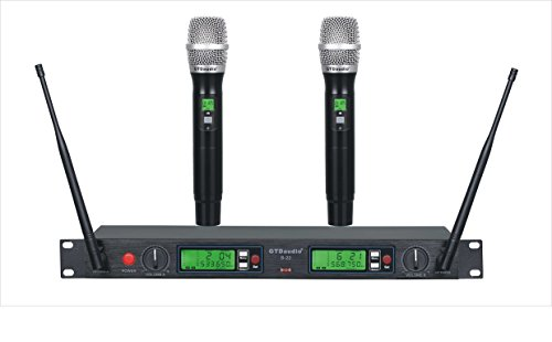 GTD Audio B-22 UHF 200 Selectable Frequency Channel Professional 2 Wireless microphone Mic System (22 Mic)