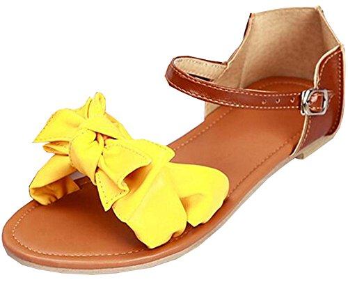 34 sandelholze sandalen Designer Flops Neue Frauen Flip Gelb Ladies 2015 42 Patchwork Plattform Größe Sandalen sommer Flats Bf6txq4