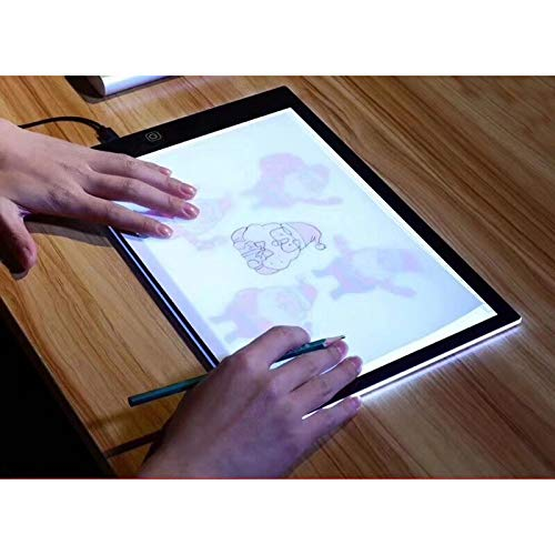 A4 LEDライトボックス トレーサー USBパワー 超薄型 ポータブル LEDアートクラフト トレーシングライトパッド ライトボックス コピーボード アーティストの描画スケッチ アニメ X線裁縫 タトゥーキルティング