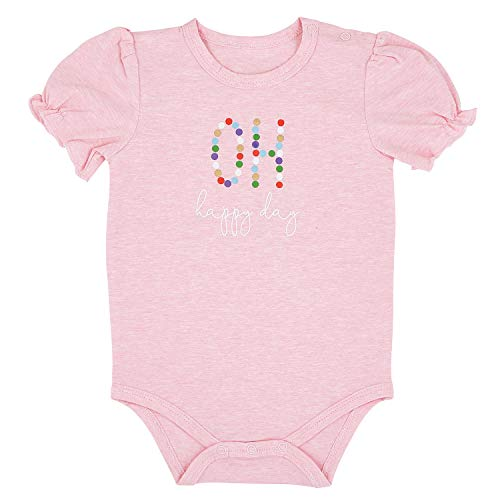 Stephan Baby Snapshirt-Style Diaper Cover, Pink + Oh Happy Day, Fits 6-12 Months, G2206