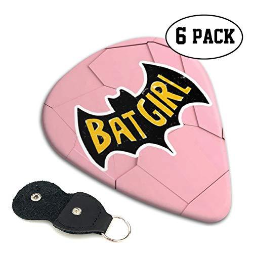 Shijiazhuangdezi Guitar Picks- Stylish Batgirl Print Celluloid Guitar Picks with Picks Holder- 6 Pack