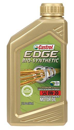 Castrol 06585 Edge Bio Synthetic 0W 20 Advanced Full Synthetic Motor Oil  1 Quart  1 Pack