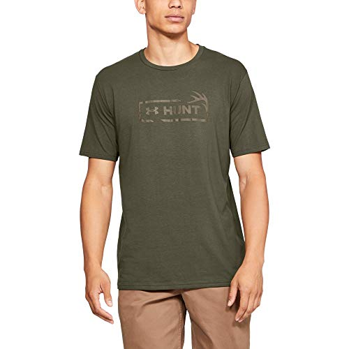 Under Armour Men's Hunt Icon Short sleeve, Marine Od Green (390)/Bayou, X-Large