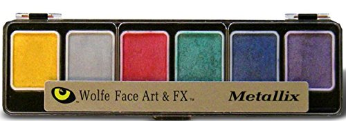 Wolfe Novelties - 6 Color Metallic Pallet - Hydrocolor Makeup