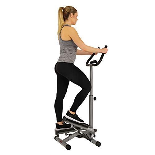 Sunny Health & Fitness Twist Stepper Step Machine w/Handle Bar and LCD Monitor - NO. 059 by Sunny Health & Fitness (Image #3)