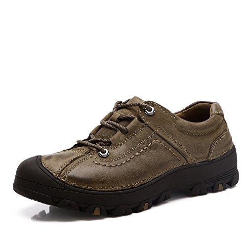 Zapatos Para Caminar Al Aire Libre De Los Hombres Del Verano Del Otoño CHT Transpirable De Cuero Grande Multicolor Código Opcional Khaki
