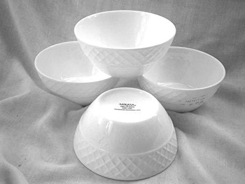 Mikasa Trellis White Fruit Bowl (Set of -