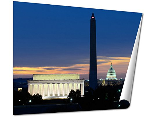 Ashley Giclee Fine Art Print, Washington Dc National Mall At Sunrise Including Lincoln Memorial Monument And, 16x20, - Is Sunrise Where Mall