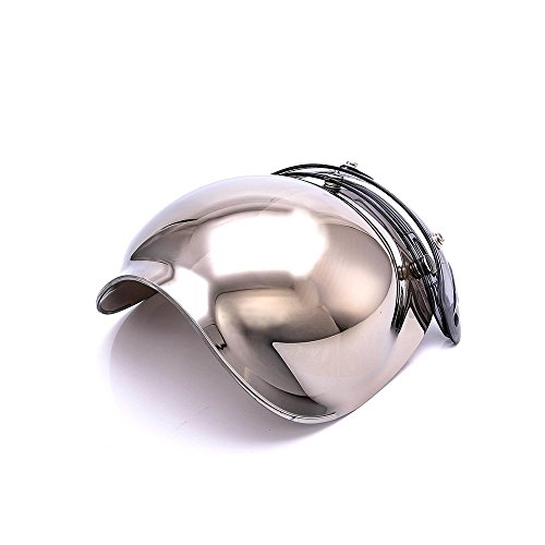 Motorcycle Bubble Helmet Shield 3-Snap Flip Up Face Wind Shield Lens Mirrored by - Visor Mirrored