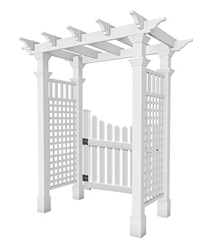 BestNest New England Fairfield Arbor with Trim and Gate ()