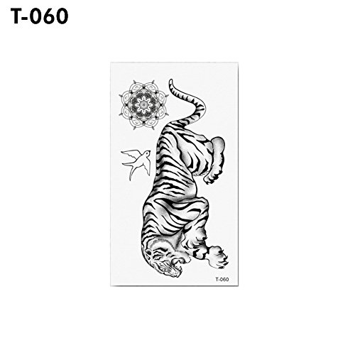Quietcloud 1 Sheet Waterproof Flower Animal Bowknot Temporary Tattoo Sticker Women Man Body Art size 6cm x 10.5cm (T-060)