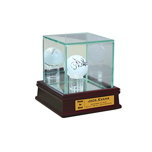Perfect Cases Golf Ball Display Case (Cherry with - Display Ball Glass Golf Case