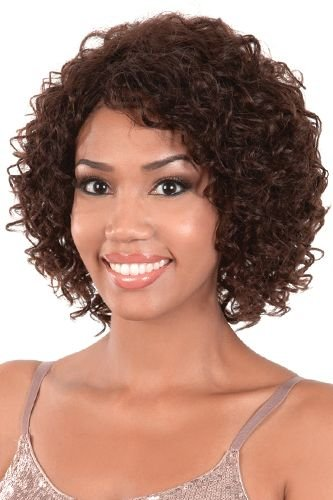 MOTOWN TRESS 100% Indian Remy Human Hair Wig - HIR DIOR (#1B - Off Black) (Hair Indian Remy Wigs)
