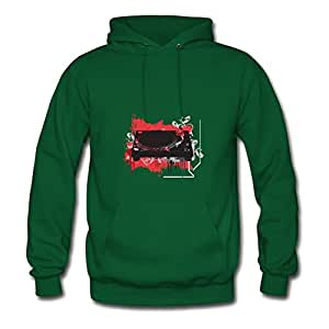 Style Personality Dj Table Green Women Cotton Sweatshirts Fitted Funny Small