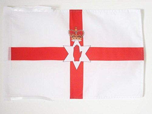 AZ FLAG Northern Ireland Flag 18'' x 12'' Cords - Irish Small Flags 30 x 45cm - Banner 18x12 in
