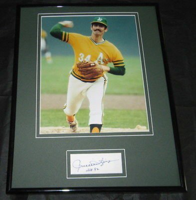 Rollie Fingers Signed Framed 11x14 Photo Display JSA A's Brewers
