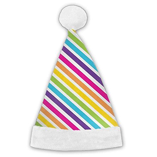 Beautiful Rainbow Christmas Hat Printing Santa Hats Gorgeous (Gorgeous Printing)