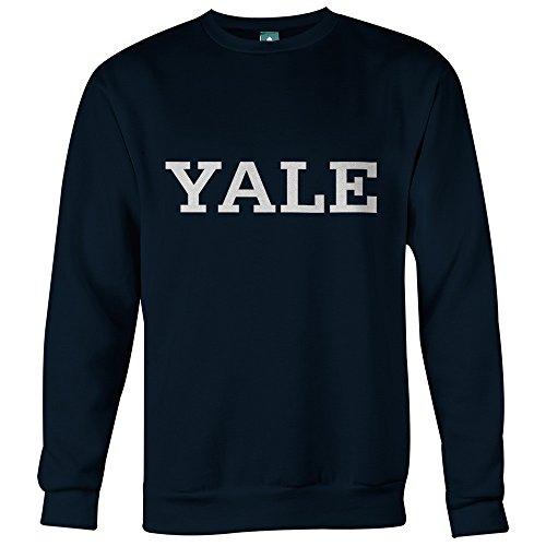 Yale University Sweatshirt by Ivysport – Classic Logo, 80% Cotton / 20% Polyester, Navy, Crewneck Sweatshirt