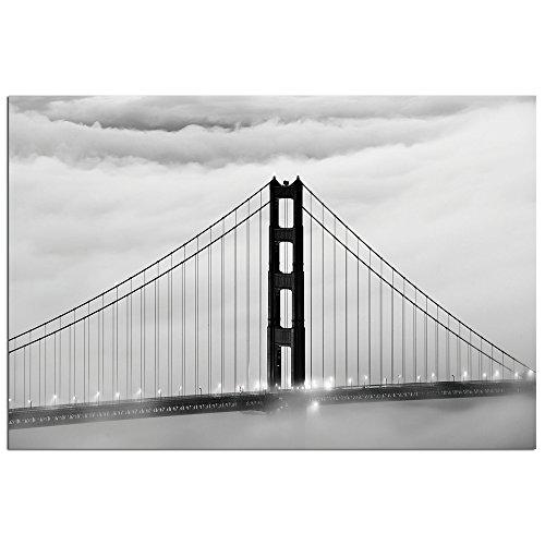 Modern Home Ultra High Resolution Tempered Glass Wall Art - San Francisco Golden Gate Bridge (Ultra Modern Glass)