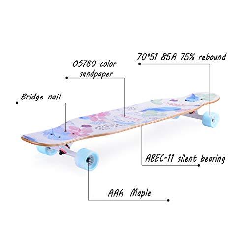 HXGL-Skateboard Skateboard Long Board Professional Board Four Wheeler Dance Board Brush Street Beginner Girl Male Generation Person Teen (Color : Red) by HXGL-Skateboard (Image #3)