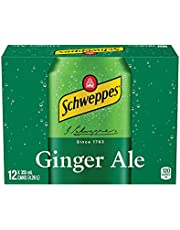 Schweppes Ginger Ale, 355 mL Cans, 12 Pack