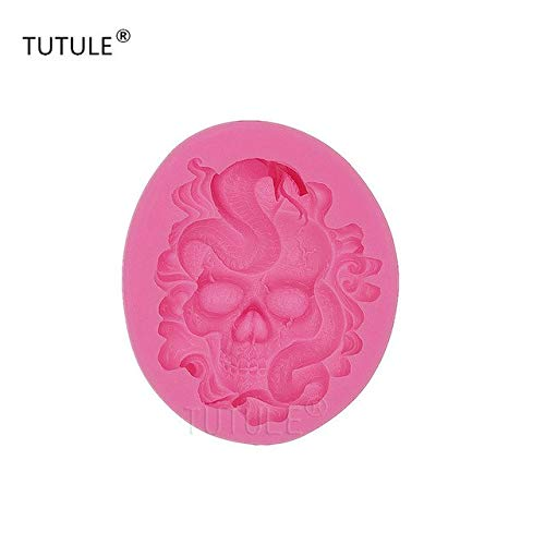 Star-Trade-Inc - Gadgets - SILICONE mold resin polymer clay mould soap wax plaster icing chocolate food Skull snake goth zombie death mold