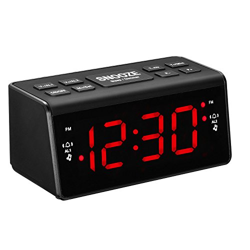Digital Alarm Clock, AM/FM Clock Radio, Alarm Clock Radio with LED Display,...