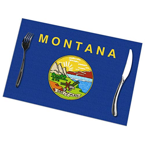 - Flag Of Montana Placemats Set Of 6 For Dining Table Washable Kitchen Table Mats Easy To Clean