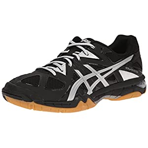 ASICS Women's Gel Tactic Volleyball Shoe, Black/Silver, 8.5 M US