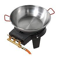 Gas-Brenner schwarz klein Burner Balkon Camping Picknick 1-flammig ✔ rund ✔ Grillen mit Gas