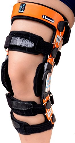 Braceit K2 ComfortLine Knee Brace (S16(THIGH=23-24.5''/CALF=15-16.5'')–Ideal for ACL / Ligament / Sports Injuries, Mild Osteoarthritis(OA) & for preventive protection from Knee Joint Pain/Degeneration by Z1