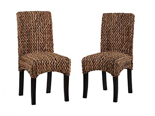 (Belmont Home BH Flores Handwoven Banana Leaf Dining Chair (Set of 2) Natural )