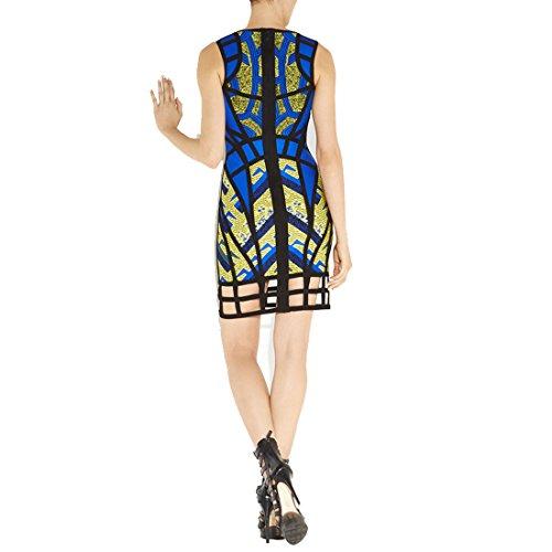 HLBCBG - Vestido - Sin mangas - para mujer Azul