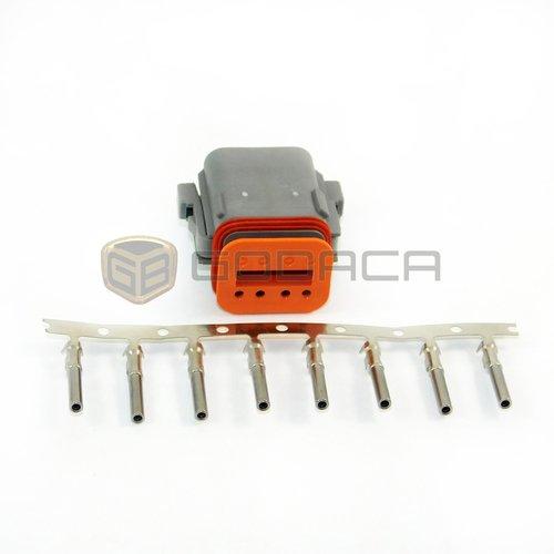 1x 2 Pin 2-way Connector DT Deutsch DT06-2S