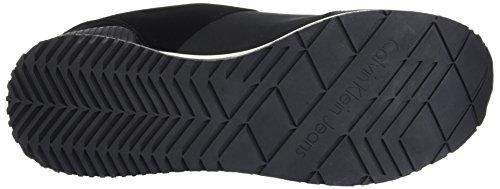 Calvin Sneaker Black Uomo Emile Nylon Flocking Nero Klein Black arFRaqnA