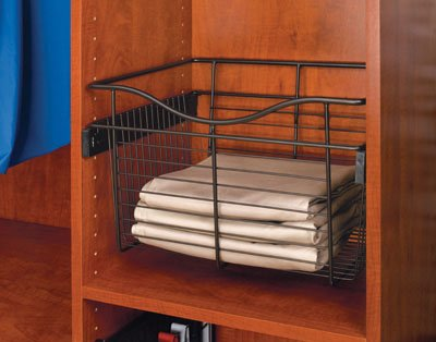 Rev-A-Shelf CB-241418ORB-5 24'' x 14'' x 18'' Pull-Out Closet Basket, Oil Rubbed Bronze